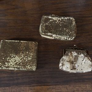 Vintage Whiting & Davis gold mesh pieces